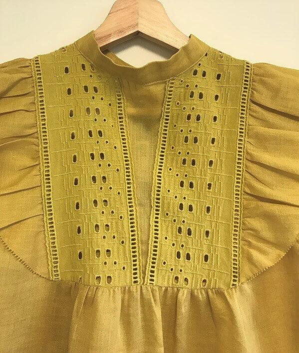 Back feature mustard top