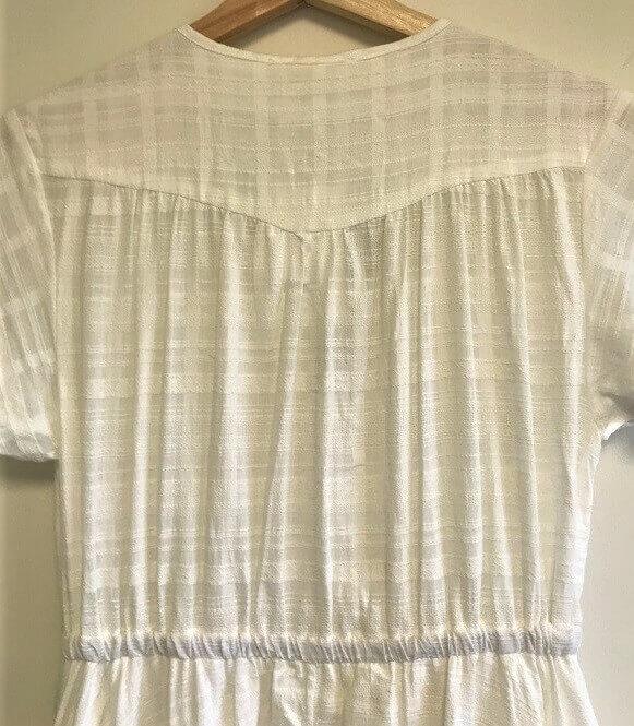 Back yoke white boho maxi dress