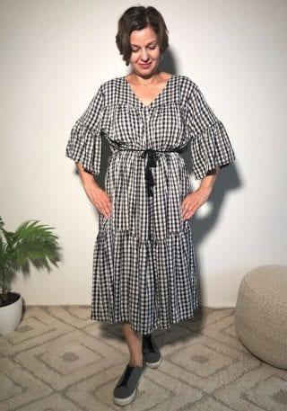 Gingham midi dress comfy