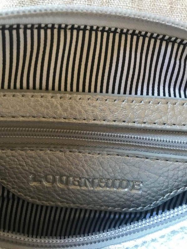 Internal pocket silver small crossbody bag